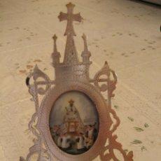 Antigüedades: ESMALTE PINTADO A MANO, VIRGEN DE MONTSERRAT 1900'S.. Lote 40946649