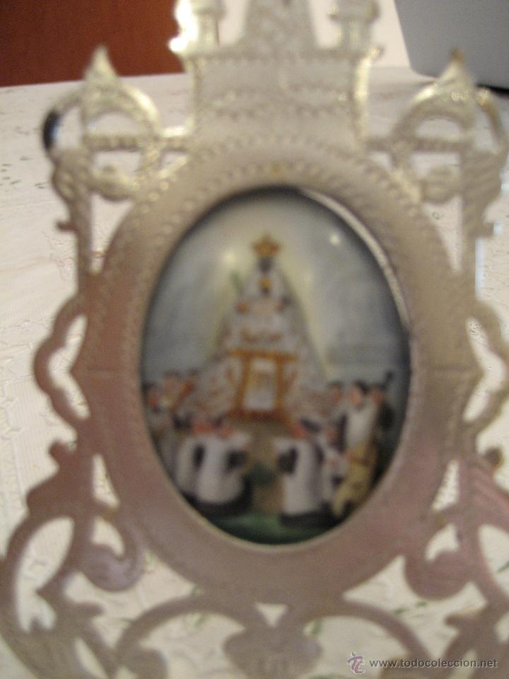 Antigüedades: ESMALTE PINTADO A MANO, VIRGEN DE MONTSERRAT 1900S. - Foto 2 - 40946649