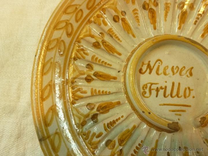 Antigüedades: plato de ceramica - Foto 7 - 39739619