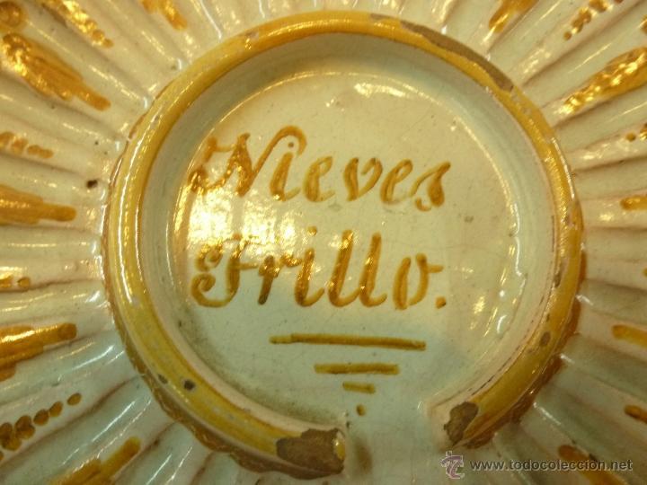 Antigüedades: plato de ceramica - Foto 8 - 39739619