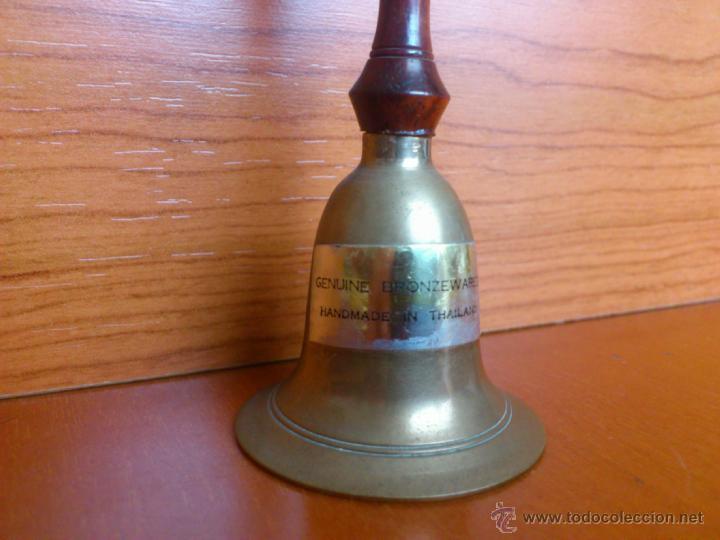 Antigüedades: Antigua campana de mano en madera y bronce - Foto 7 - 39741163