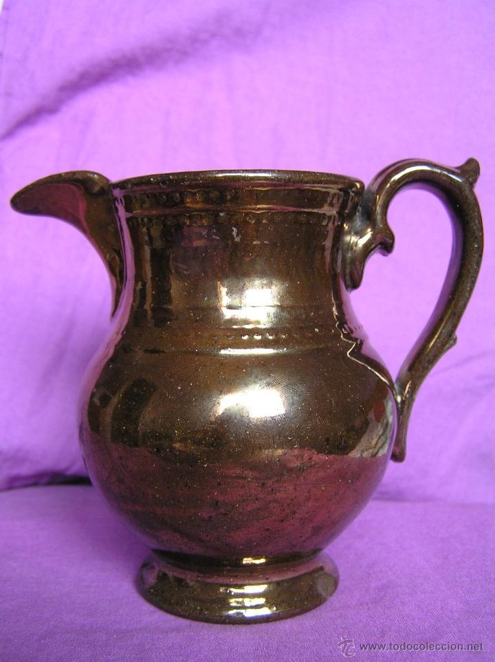 JARRA BRISTOL DE REFLEJOS METÁLICOS. SIGLO XIX. (Antigüedades - Porcelanas y Cerámicas - Inglesa, Bristol y Otros)