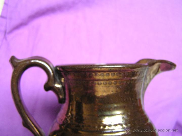 Antigüedades: JARRA BRISTOL DE REFLEJOS METÁLICOS. SIGLO XIX. - Foto 4 - 39753700