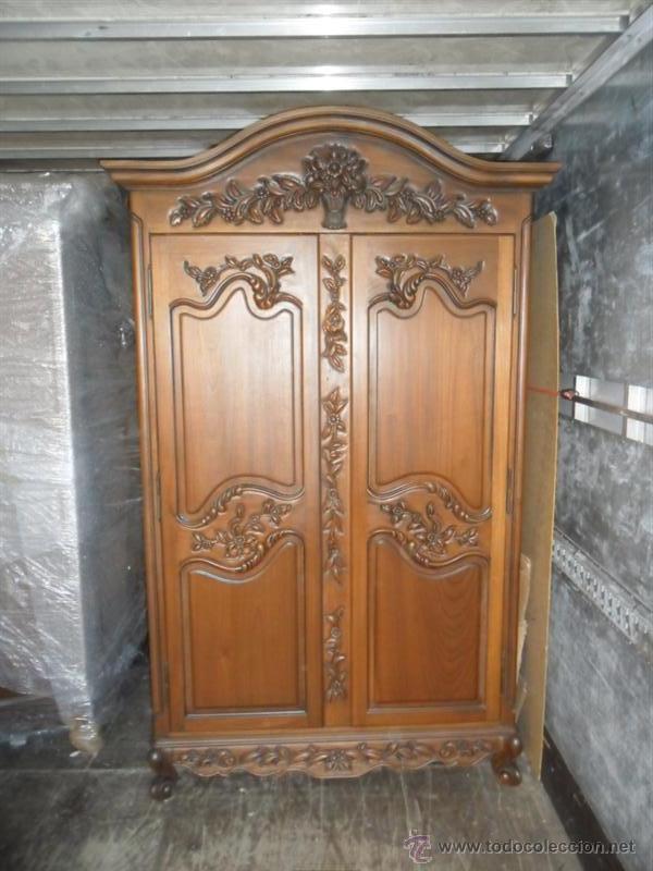 Armario de 2 puertas madera maciza comprar armarios - Muebles antiguos de madera ...