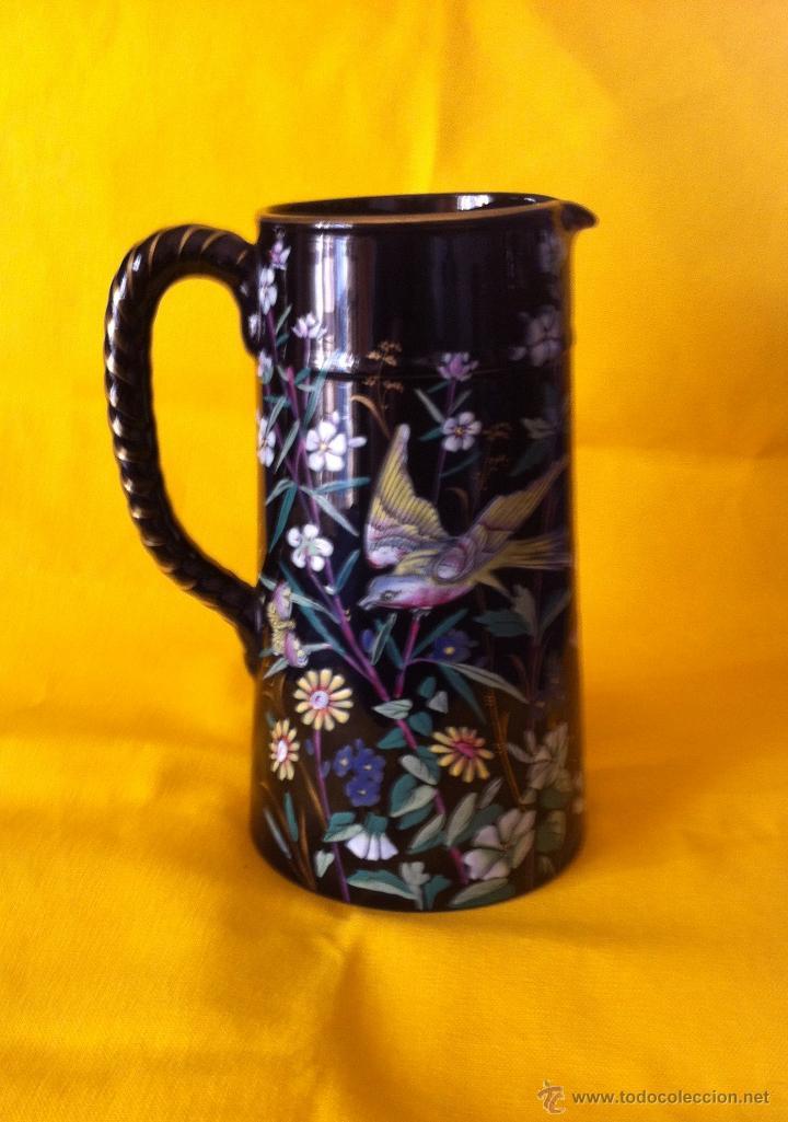 Antigüedades: Jarra ceramica negra - Foto 3 - 39761891