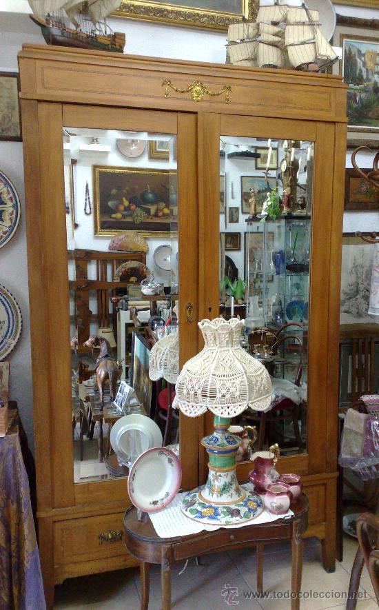 Antigüedades: ANTIGUO ARMARIO ROPERO, FINALES DEL XIX. - Foto 20 - 54664652
