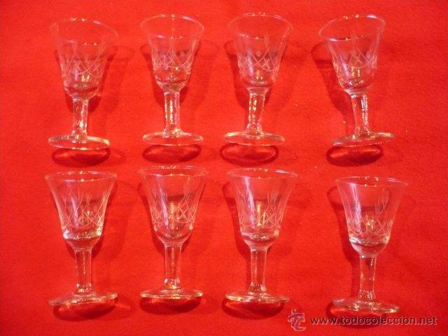 ANTIGUAS COPAS CRISTAL TALLADO (Antigüedades - Cristal y Vidrio - Otros)
