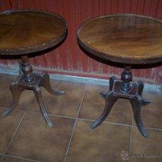 Antigüedades - Dos mesas de te inglesas antiguas - 41819036