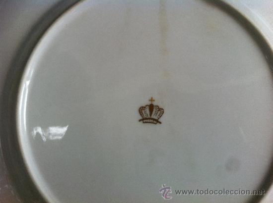 Antigüedades: PLATO ANTIGUO EN PORCELANA DE BAVARIA CON SELLO - Foto 5 - 39780520