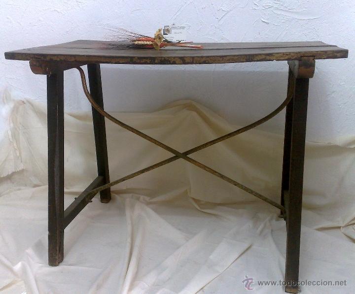 Antigüedades: ANTIGUA MESA BARGUEÑERA ESPAÑOLA, SIGLO XVIII-XIX - Foto 2 - 27719355