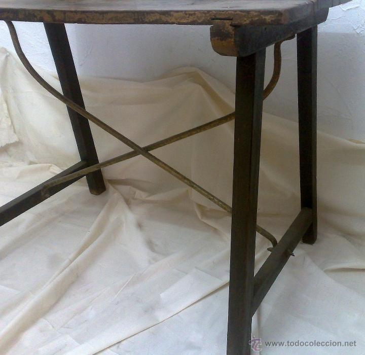 Antigüedades: ANTIGUA MESA BARGUEÑERA ESPAÑOLA, SIGLO XVIII-XIX - Foto 6 - 27719355