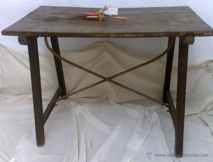 Antigüedades: ANTIGUA MESA BARGUEÑERA ESPAÑOLA, SIGLO XVIII-XIX - Foto 11 - 27719355