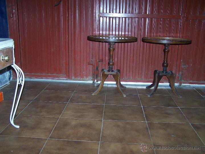 Antigüedades: Dos mesas de te inglesas antiguas - Foto 2 - 41819036