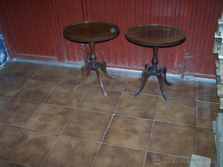 Antigüedades: Dos mesas de te inglesas antiguas - Foto 3 - 41819036