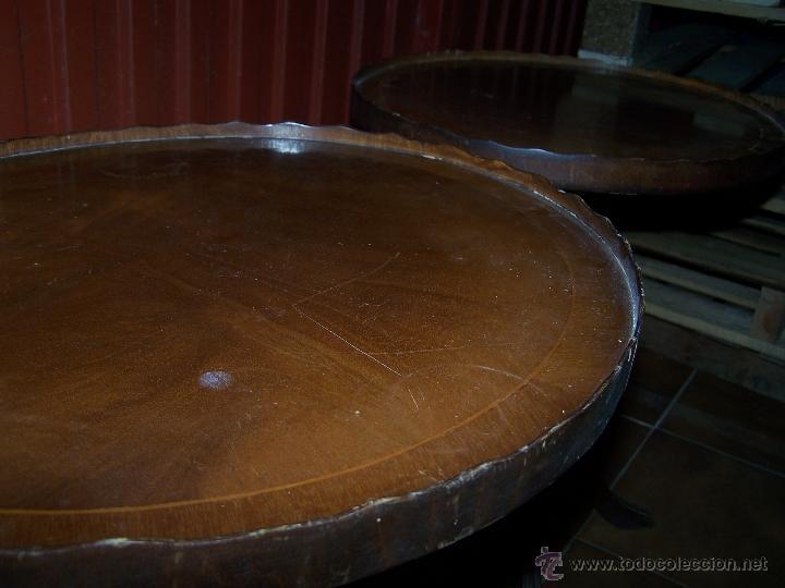 Antigüedades: Dos mesas de te inglesas antiguas - Foto 5 - 41819036