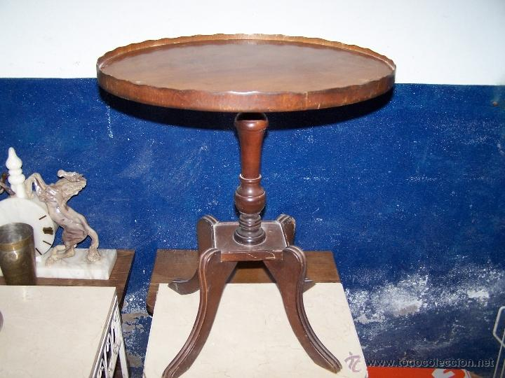 Antigüedades: Dos mesas de te inglesas antiguas - Foto 18 - 41819036