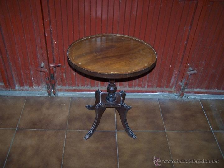 Antigüedades: Dos mesas de te inglesas antiguas - Foto 19 - 41819036
