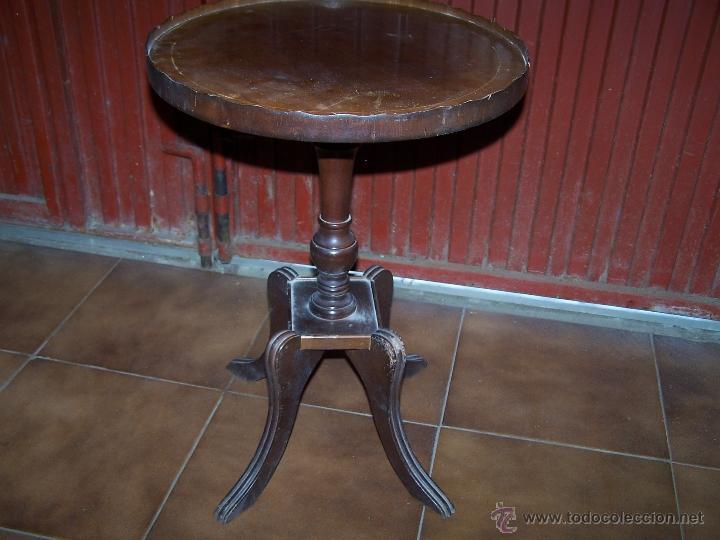 Antigüedades: Dos mesas de te inglesas antiguas - Foto 21 - 41819036