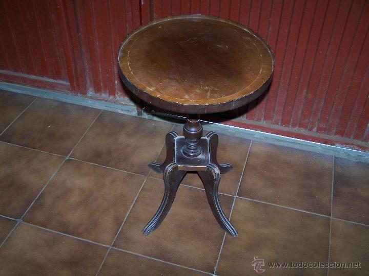 Antigüedades: Dos mesas de te inglesas antiguas - Foto 22 - 41819036