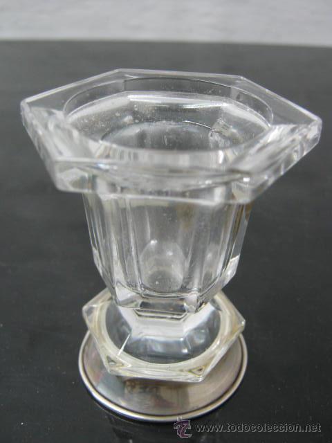BELLO CRISTAL DE ROCA AL 24 % - PLATA LEY 925 (Antigüedades - Cristal y Vidrio - Italiano)