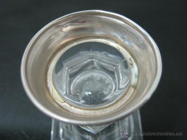 Antigüedades: Bello Cristal de Roca al 24 % - plata ley 925 - Foto 3 - 39810065