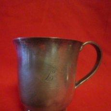 Antigüedades: PRECIOSA TAZA EN PLATA CON LA INICIAL L. . Lote 39820226