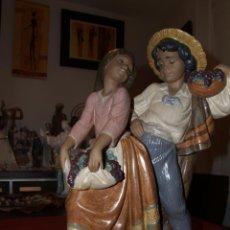 Antigüedades: VENDIMIA ROMANTICA DE PORCELANA FINA DE LLADRO ACABADO EN GRES DESCATALOGADA MIDE UNOS 50 CM.. Lote 37244995