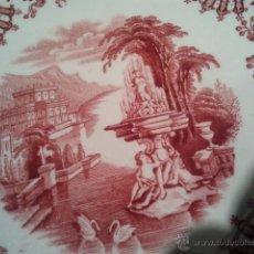 Antigüedades: ANTIGUO PLATO DE PICKMAN SEVILLA EN ROSA. Lote 39843021