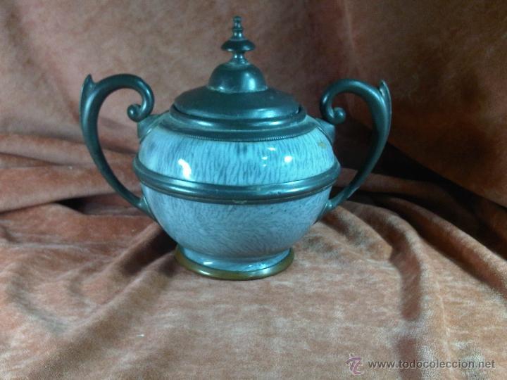 AZUCARERO DE PELTRE (Antigüedades - Porcelanas y Cerámicas - Otras)