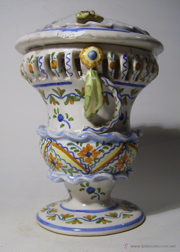 Antigüedades: BOMBONERA CERAMICA DE MANISES - Foto 3 - 39849575