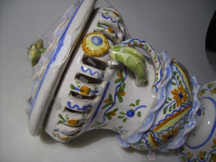 Antigüedades: BOMBONERA CERAMICA DE MANISES - Foto 5 - 39849575