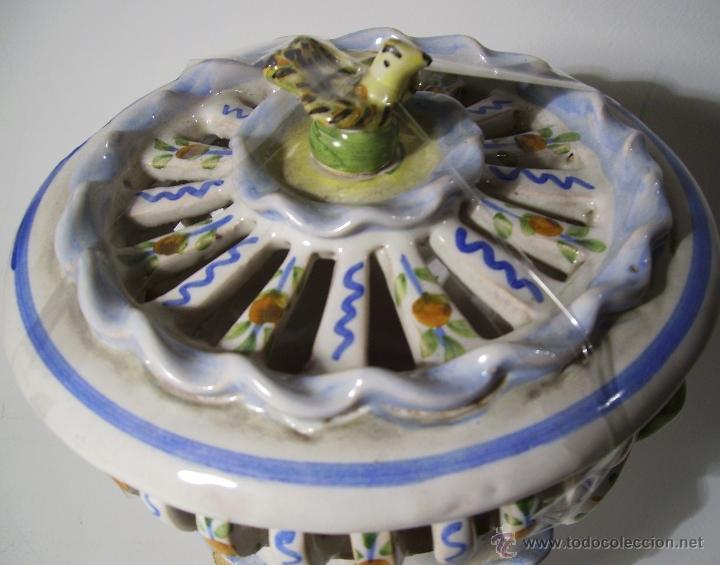 Antigüedades: BOMBONERA CERAMICA DE MANISES - Foto 8 - 39849575