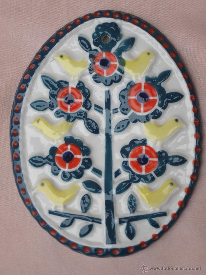 MEDALLON O PLACA OVALADA DE SARGADELOS. (Antigüedades - Porcelanas y Cerámicas - Sargadelos)