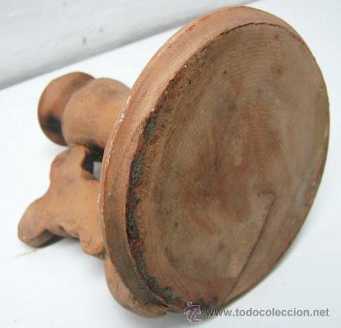 Antigüedades: Bella y original palmatoria candelabro terracota - dos ratoncitos - Foto 5 - 39862621