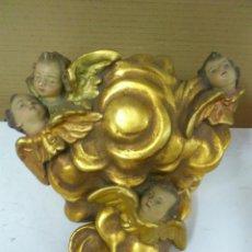 Antigüedades: . PEANA MENSULA DORADA CON ANGELES. Lote 39878204
