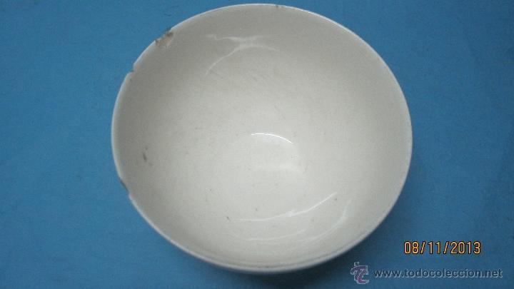 Antigüedades: ANTIGUO CUENCO O TAZON PARA EL CAFE O LECHE DE CERAMICA PARA CASA RURAL O CORTIJO - Foto 5 - 39884518
