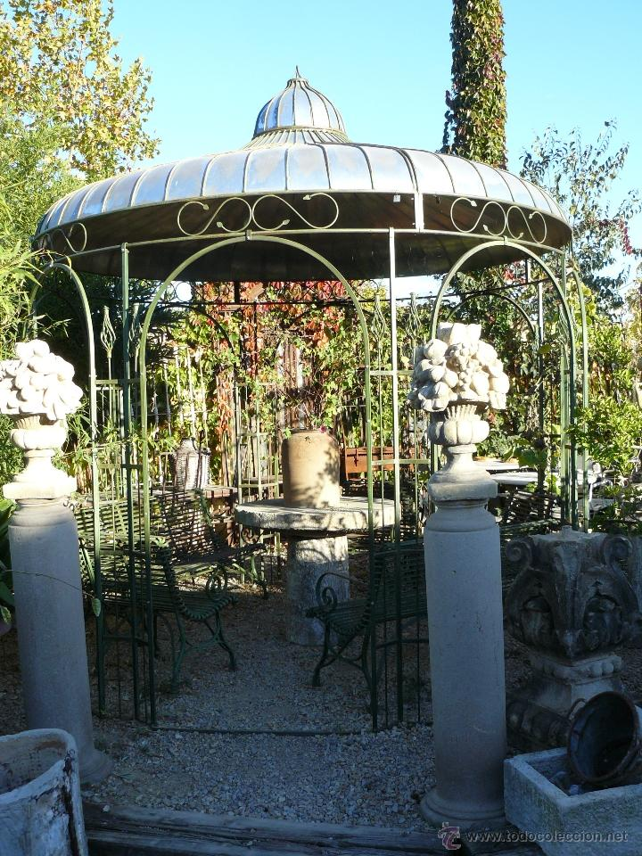 pergola cenador de jardin de hierro comprar en todocoleccion 39886558. Black Bedroom Furniture Sets. Home Design Ideas