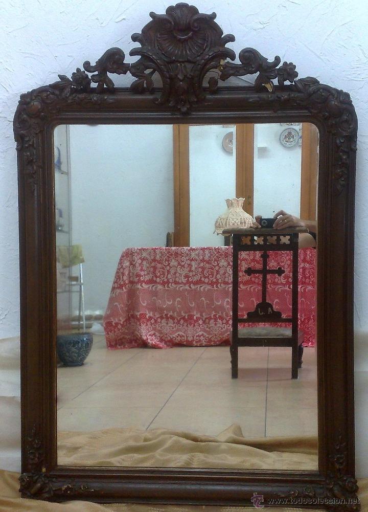Antigüedades: SIGLO XIX.- GRAN ESPEJO ISABELINO. - Foto 2 - 30696544