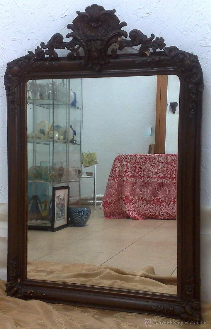 Antigüedades: SIGLO XIX.- GRAN ESPEJO ISABELINO. - Foto 3 - 30696544