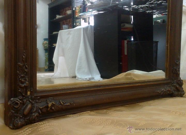 Antigüedades: SIGLO XIX.- GRAN ESPEJO ISABELINO. - Foto 7 - 30696544