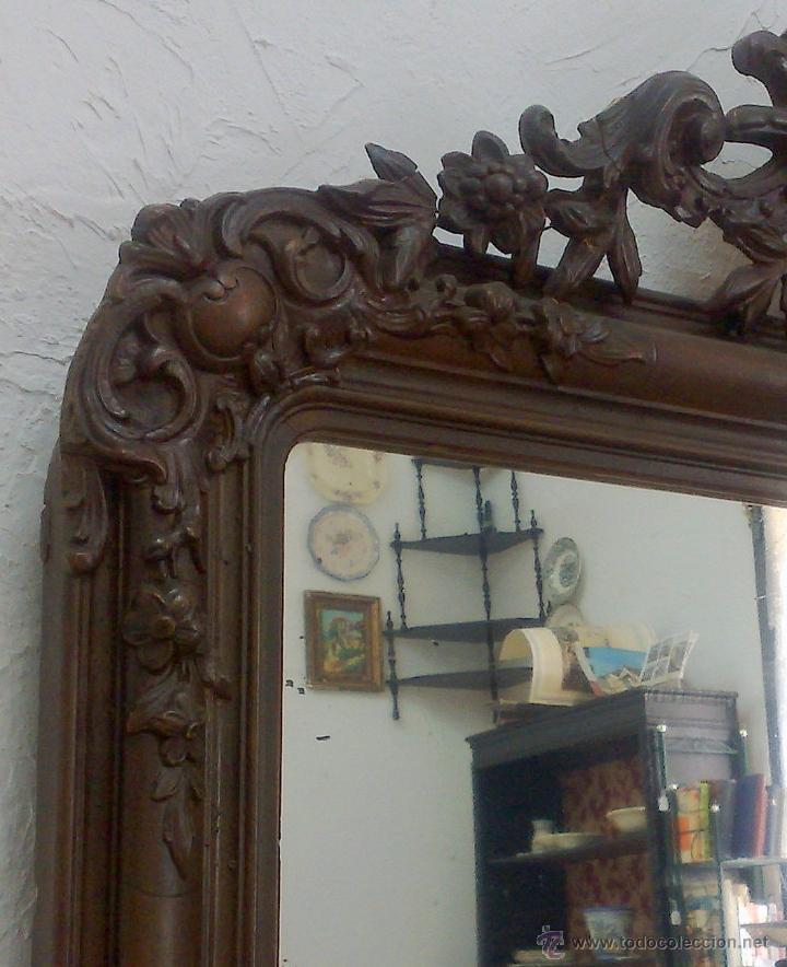 Antigüedades: SIGLO XIX.- GRAN ESPEJO ISABELINO. - Foto 10 - 30696544