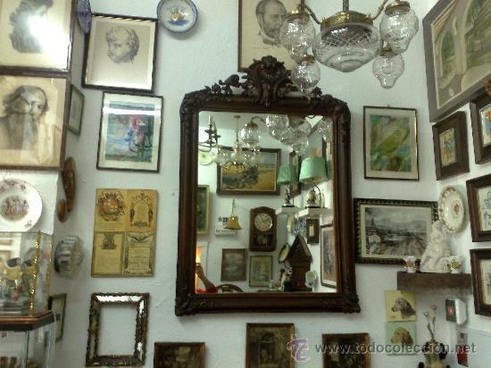 Antigüedades: SIGLO XIX.- GRAN ESPEJO ISABELINO. - Foto 12 - 30696544