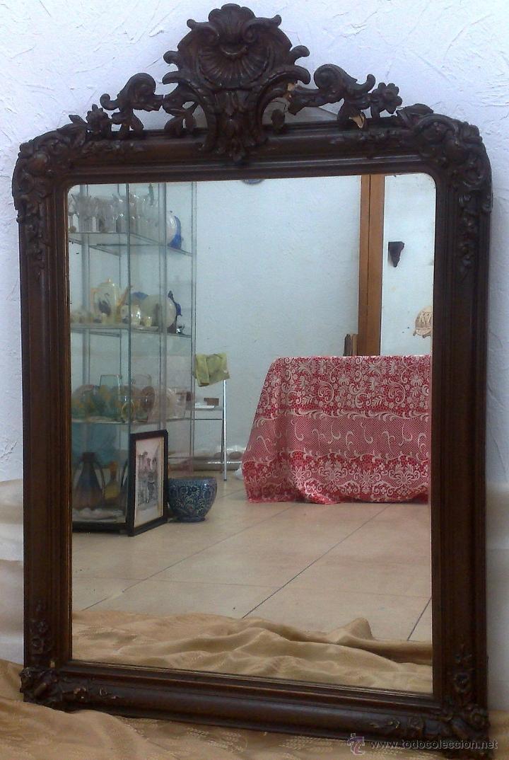 Antigüedades: SIGLO XIX.- GRAN ESPEJO ISABELINO. - Foto 19 - 30696544