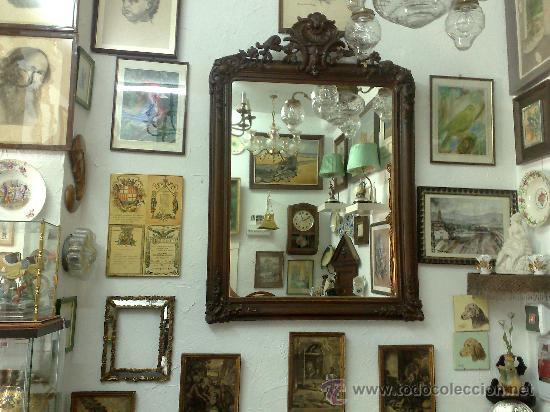 Antigüedades: SIGLO XIX.- GRAN ESPEJO ISABELINO. - Foto 20 - 30696544