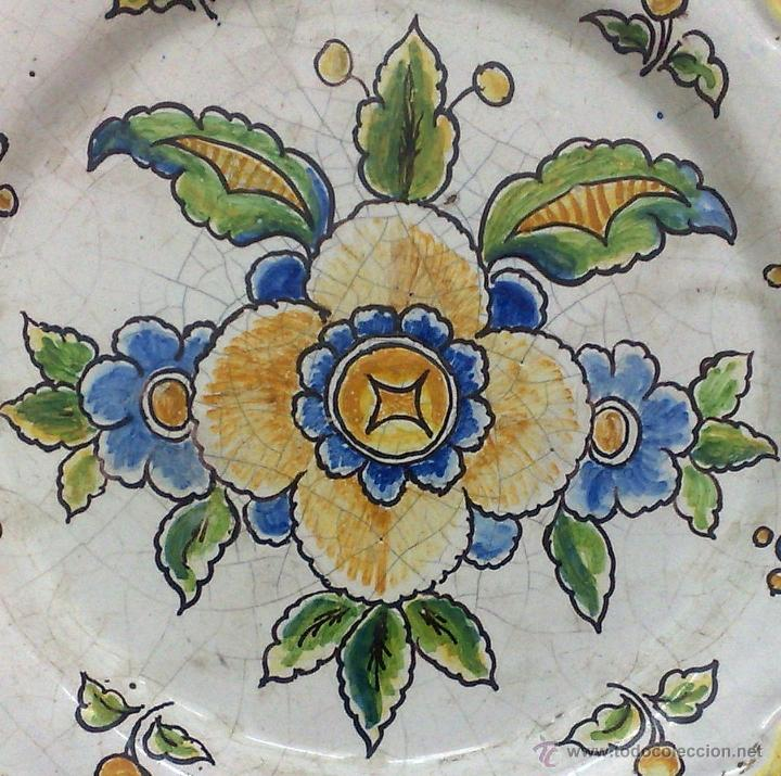 Antigüedades: CERAMICA NIVEIRO. TALAVERA .ANTIGUO PLATO - Foto 4 - 26407033