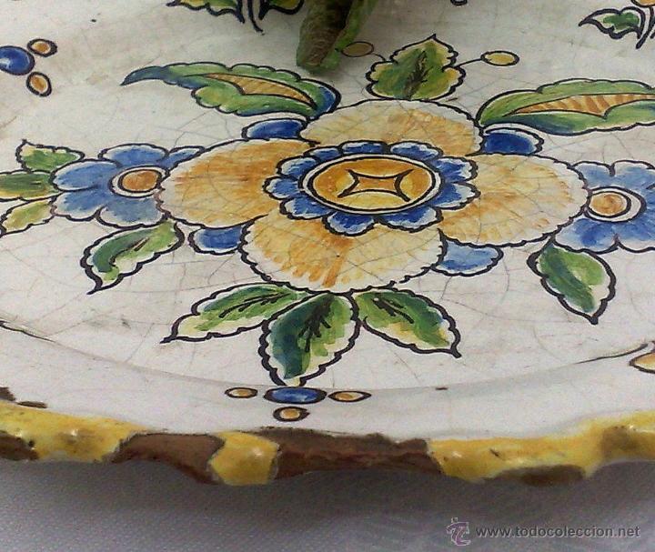 Antigüedades: CERAMICA NIVEIRO. TALAVERA .ANTIGUO PLATO - Foto 8 - 26407033