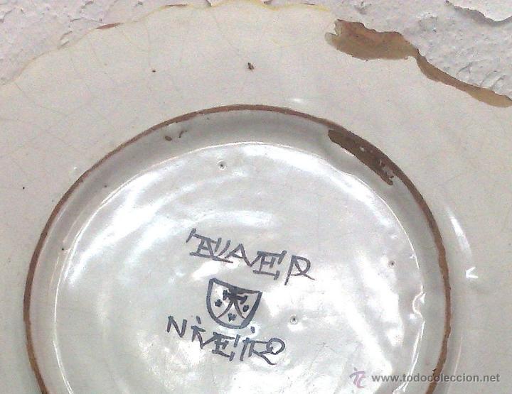 Antigüedades: CERAMICA NIVEIRO. TALAVERA .ANTIGUO PLATO - Foto 11 - 26407033