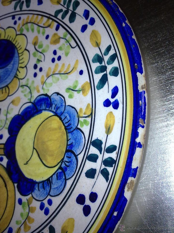 Antigüedades: Plato de cerámica de Triana? Talavera? S XIX? - Foto 6 - 39909785