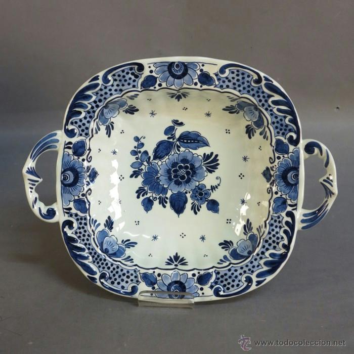 BANDEJA DE PORCELANA DE DELFT. 1950 - 1960. (Antigüedades - Porcelana y Cerámica - Holandesa - Delft)