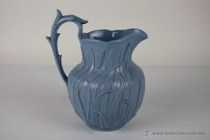 PRECIOSA JARRA EN PORCELANA INGLESA, CON MARCAS, FINALES S. XIX (Antigüedades - Porcelanas y Cerámicas - Inglesa, Bristol y Otros)